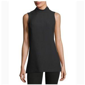 Trina Turk black Jaya sleeveless mock neck tunic